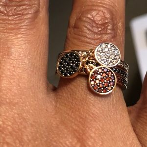 Henri Bendel Three Stack Crystal Ring
